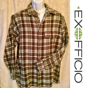 ⬇️$60 NWOT ExOfficio Travel Wear Plaid Shirt🌐